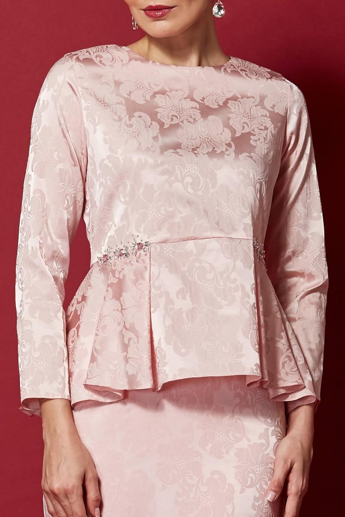 Pink Peplum Top With Embellishment (2)