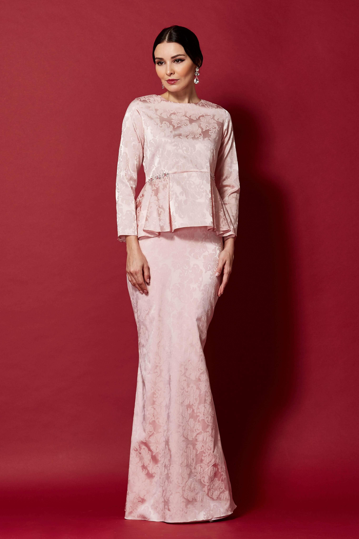 Pink Peplum Top With Embellishment (3)