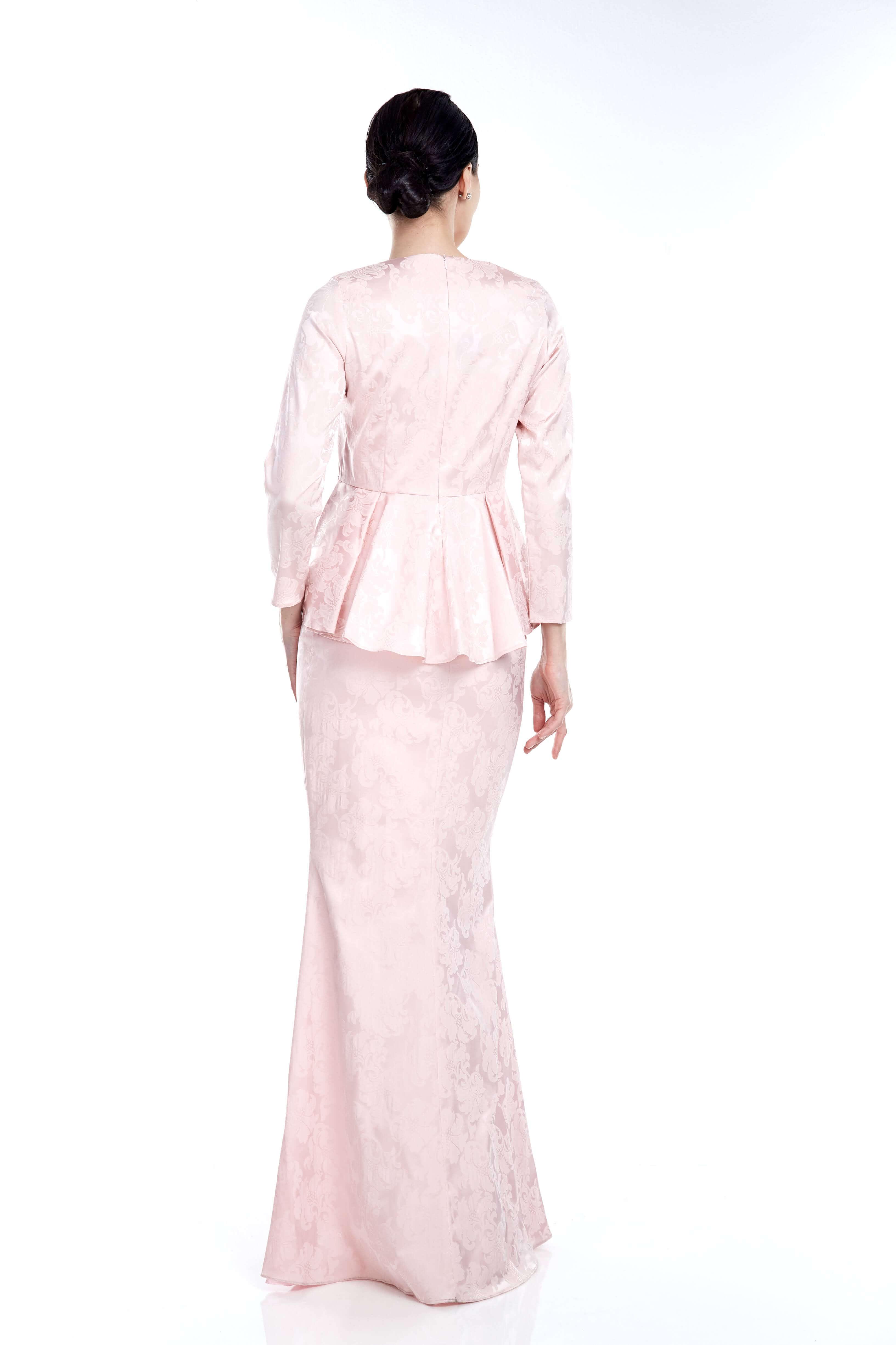 Pink Peplum Top With Embellishment (6)