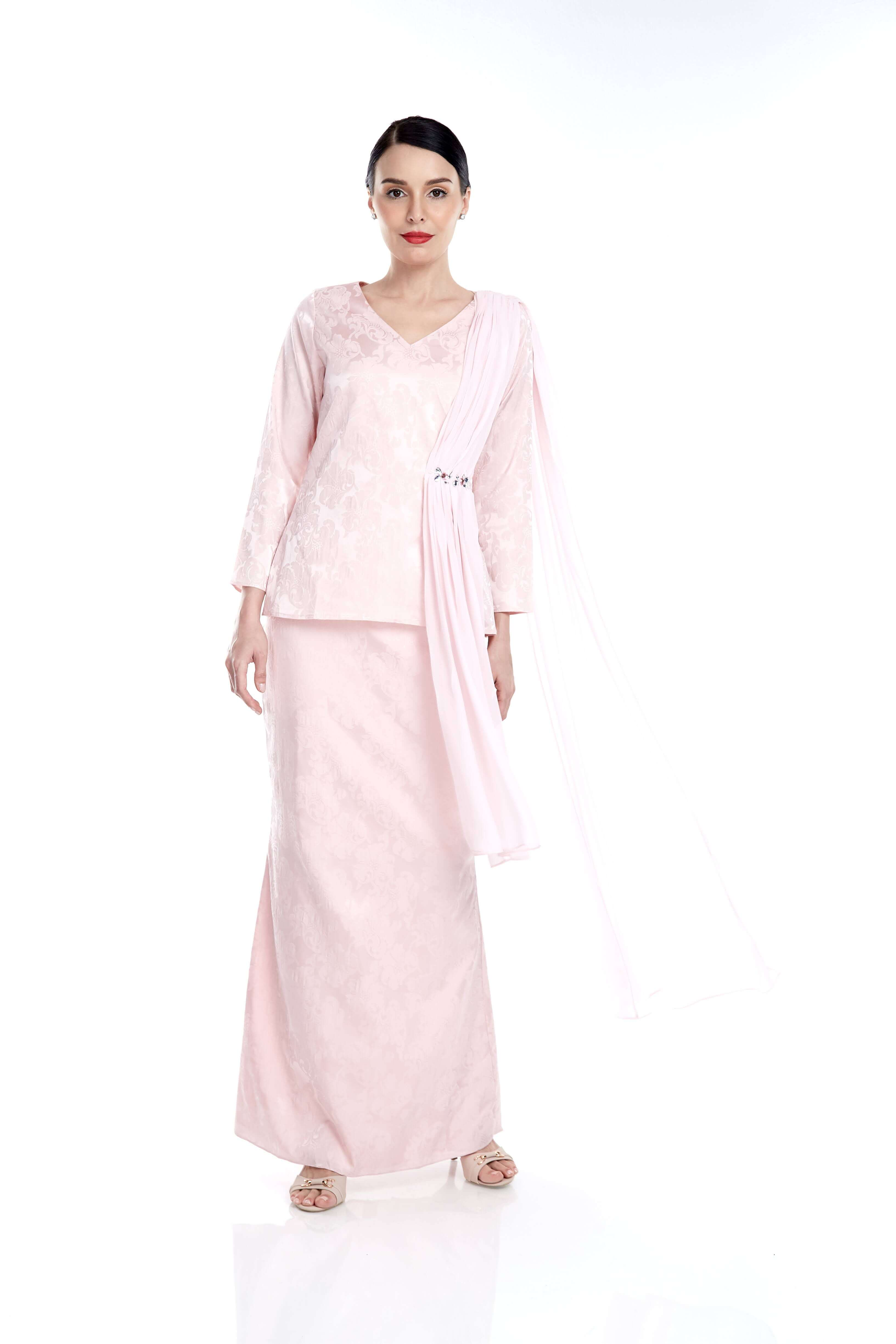 Pink Top With Attached Shawl & Embellishment (7)