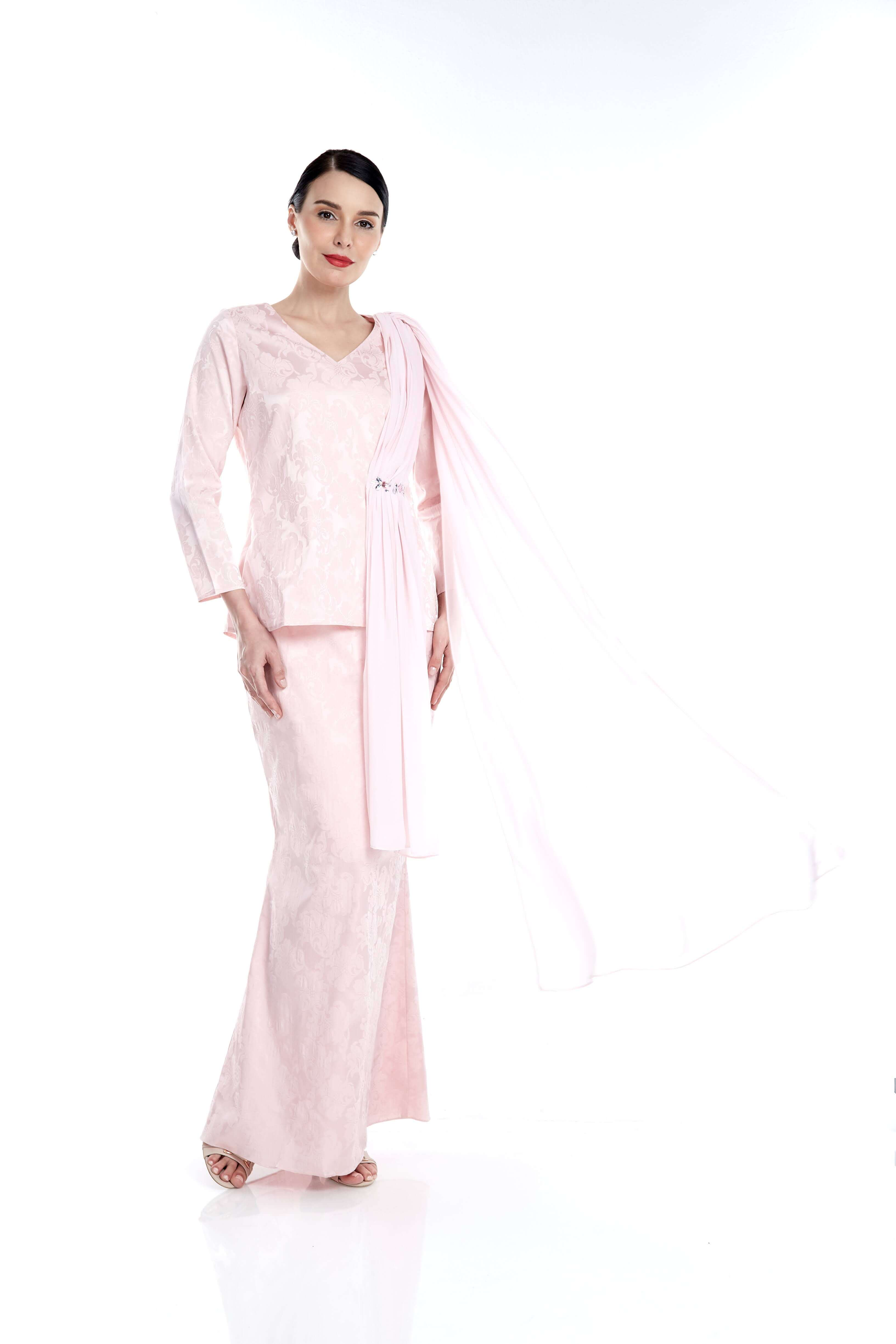 Pink Top With Attached Shawl & Embellishment (8)