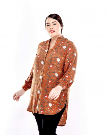 Alice Orange Flower Blouse