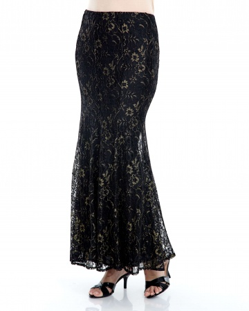 Anna Lace 8 Panel Mermaid Lace Skirt