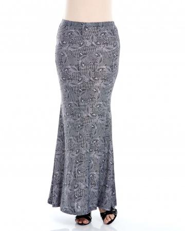 Black Pasley Mermaid Skirt