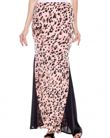 Pink Leo Mermaid Skirt With Side Panel