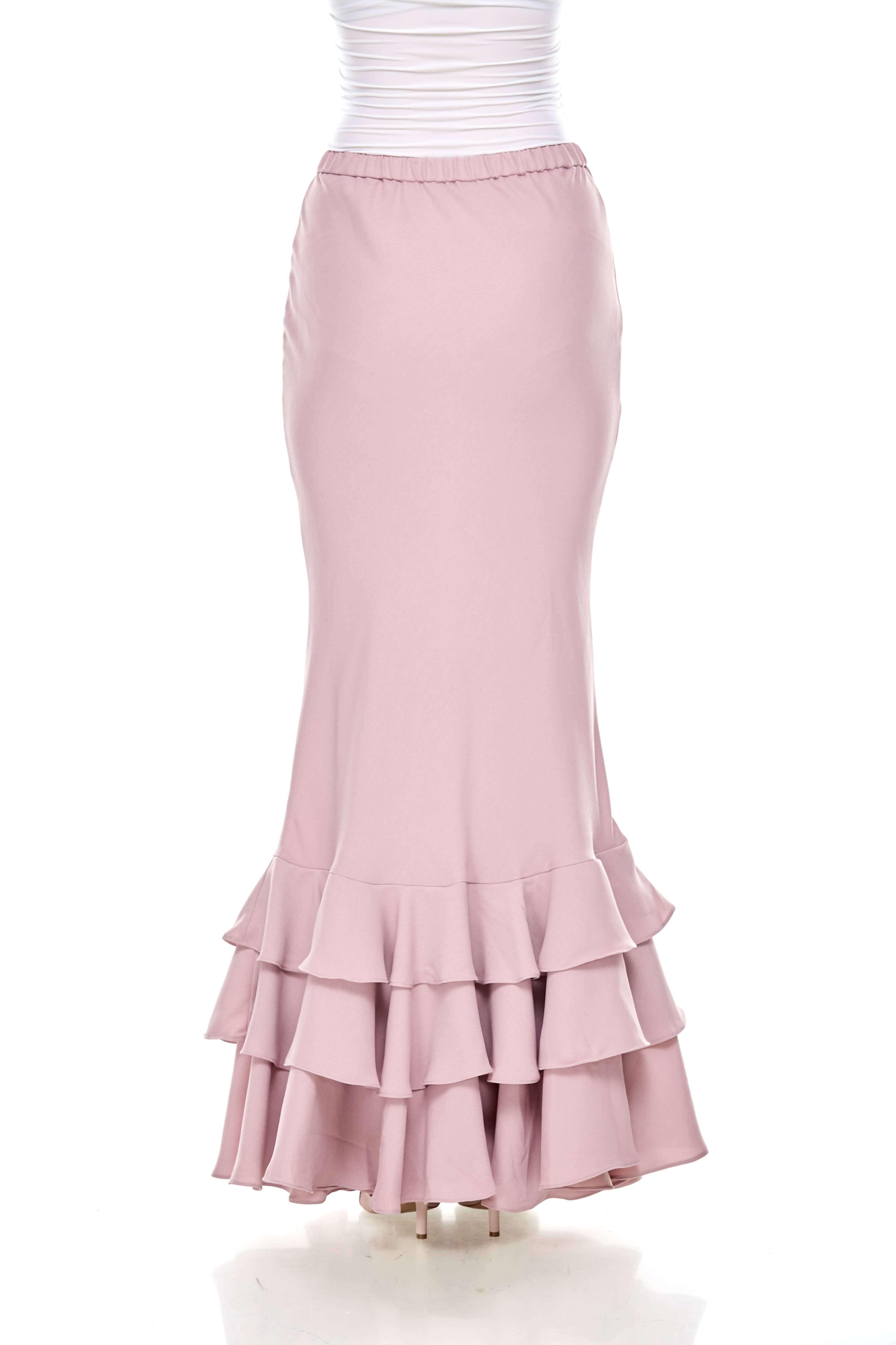 Rose Dawn Pink Ruffle Skirt (4)