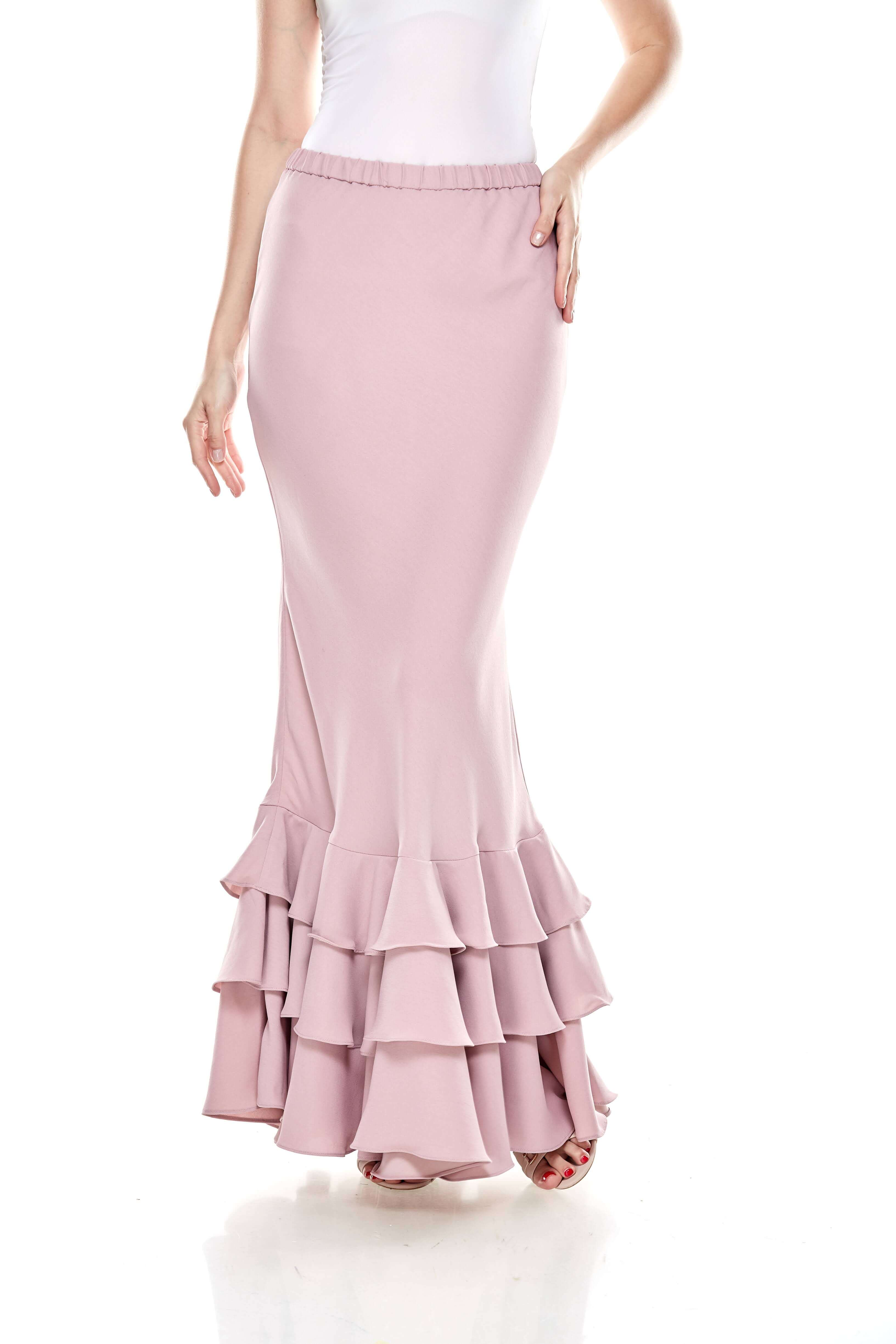 Rose Dawn Pink Ruffle Skirt (5)