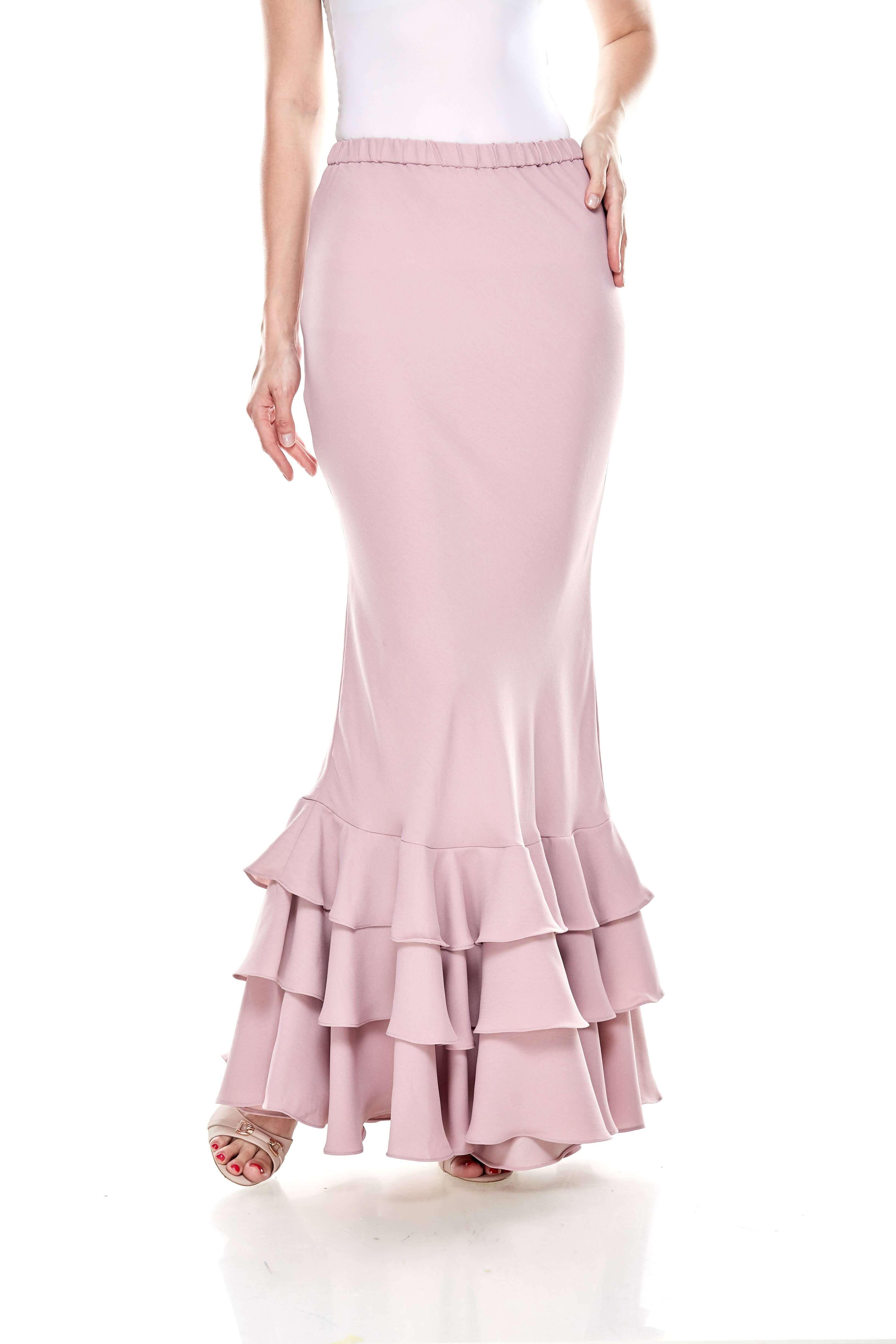 Rose Dawn Pink Ruffle Skirt