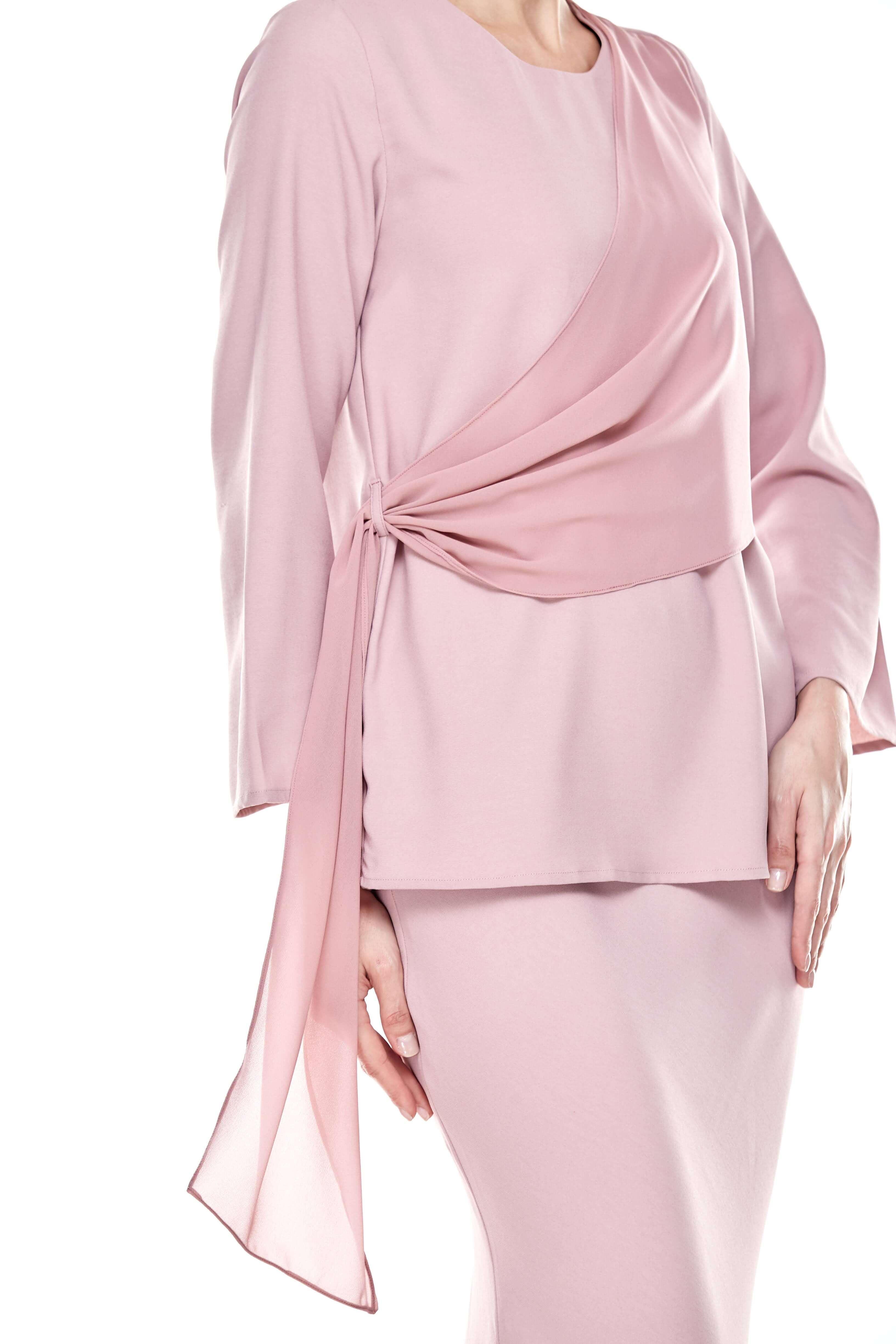 Rose Dawn Pink Sash Blouse (2)
