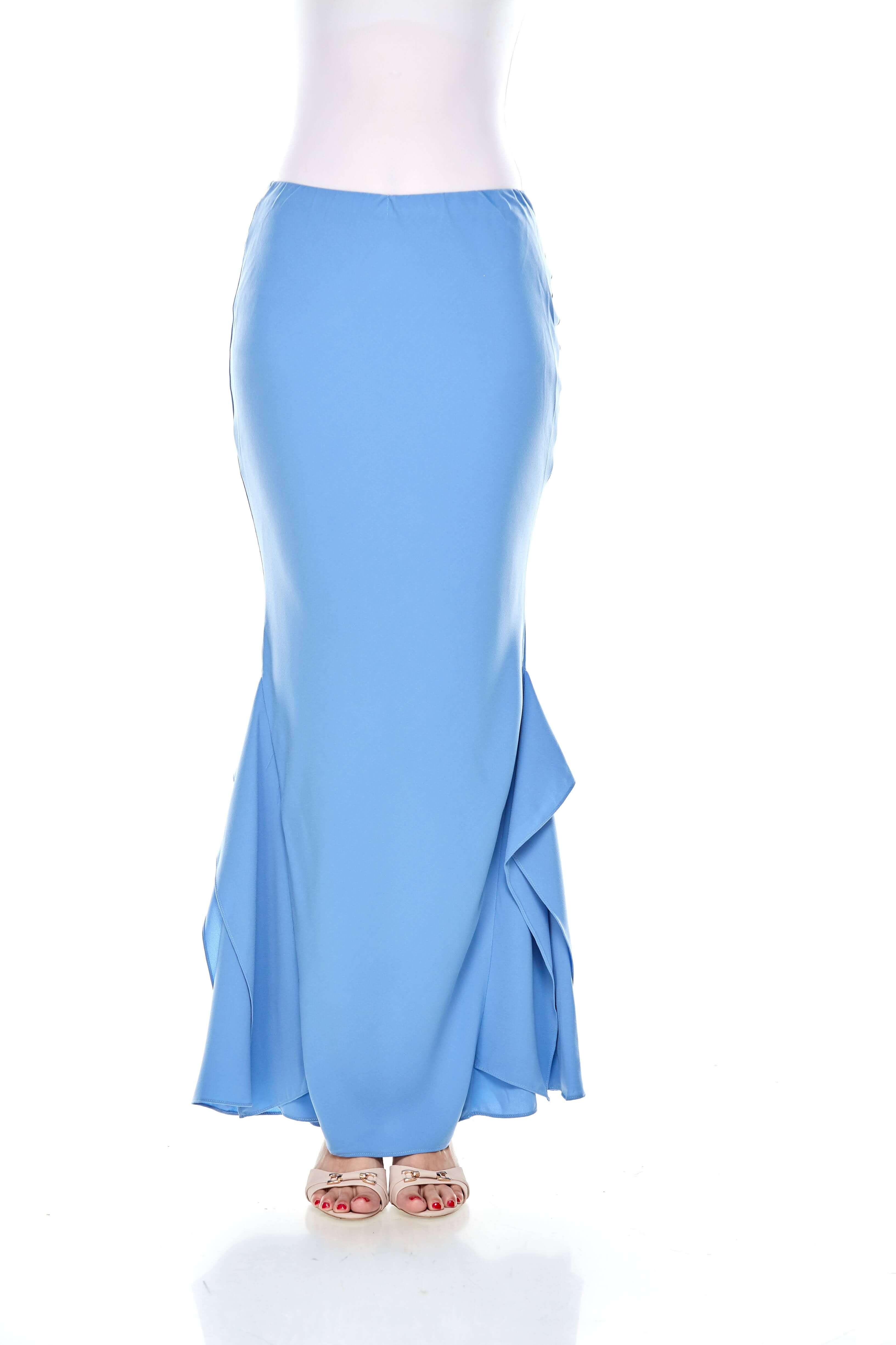 Baby Blue Ruffle Mermaid Skirt (1)