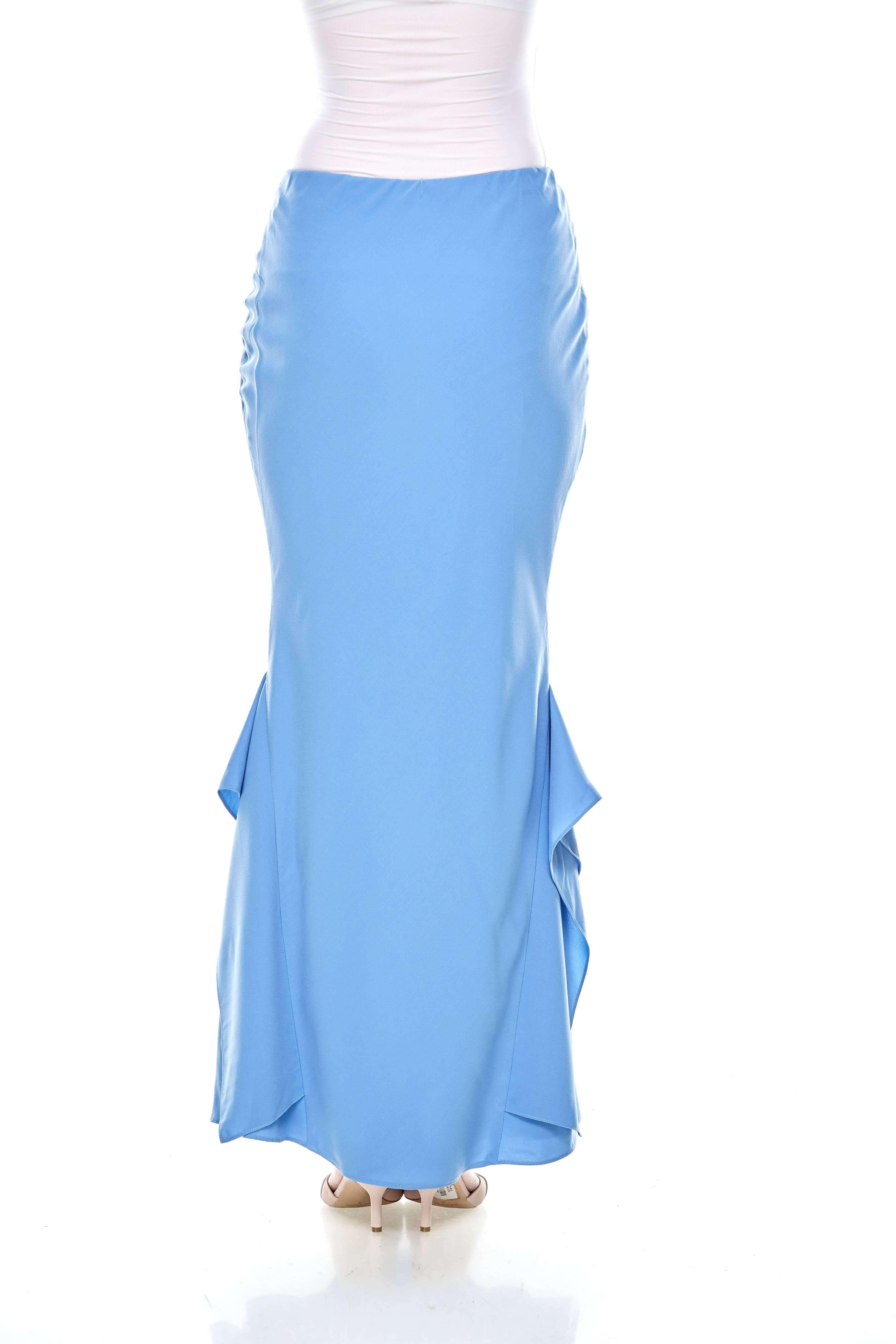 Baby Blue Ruffle Mermaid Skirt (3)