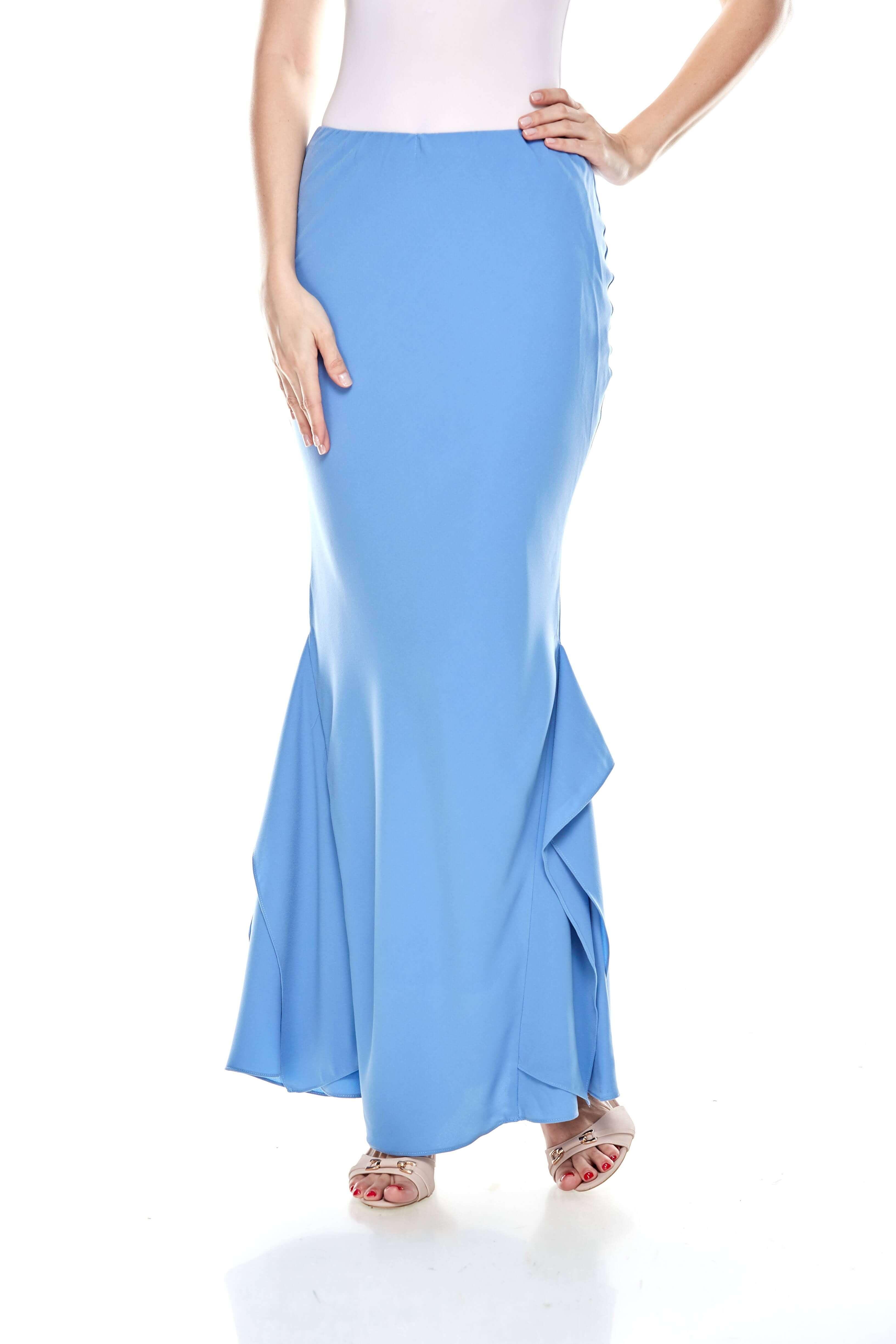 Baby Blue Ruffle Mermaid Skirt