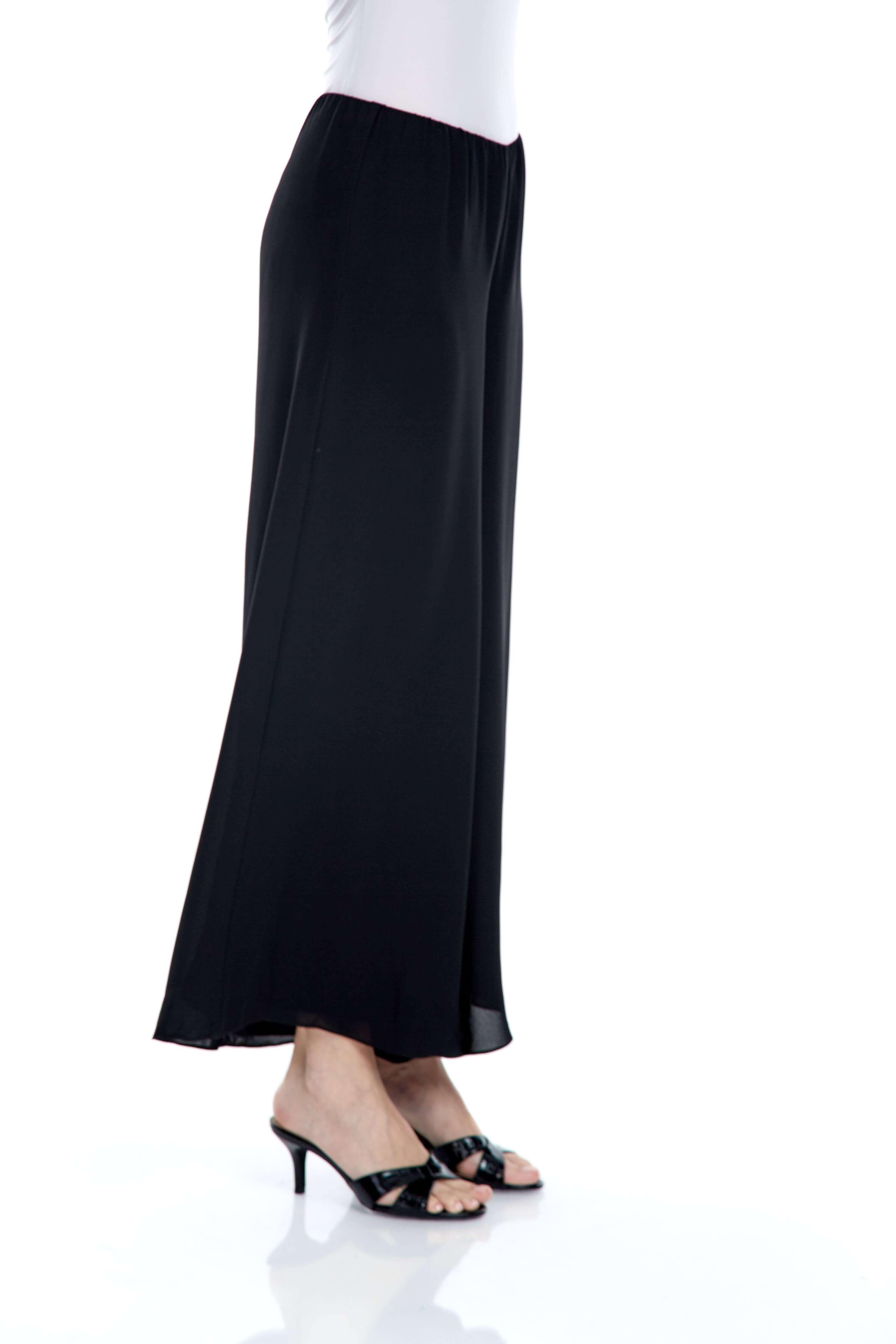 Black Double Layer Palazo Pants (2)