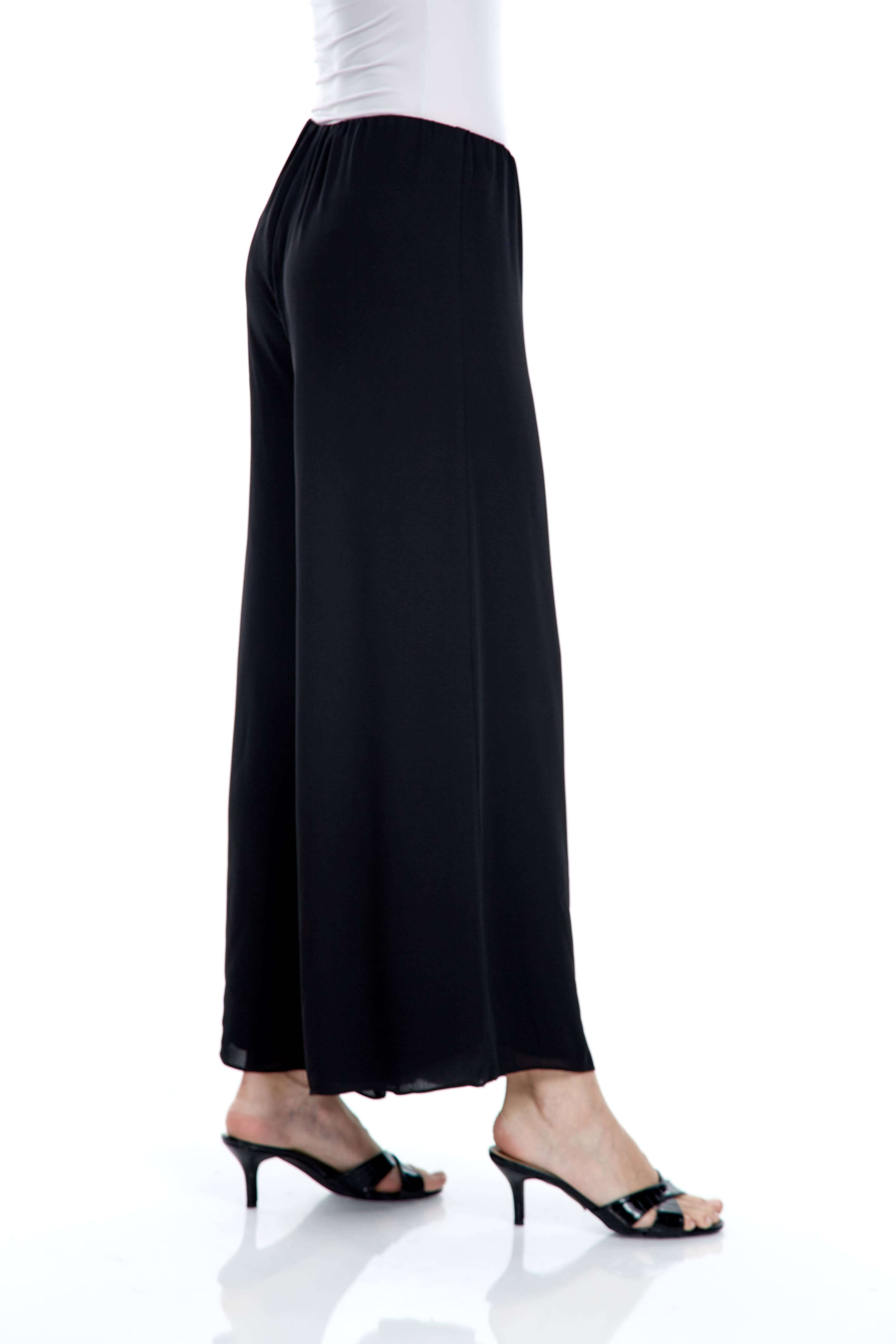 Black Double Layer Palazo Pants (3)