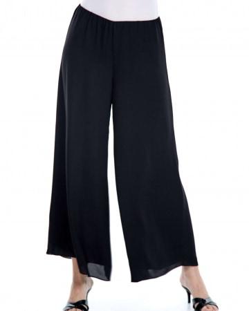 Black Double Layer Palazo Pants