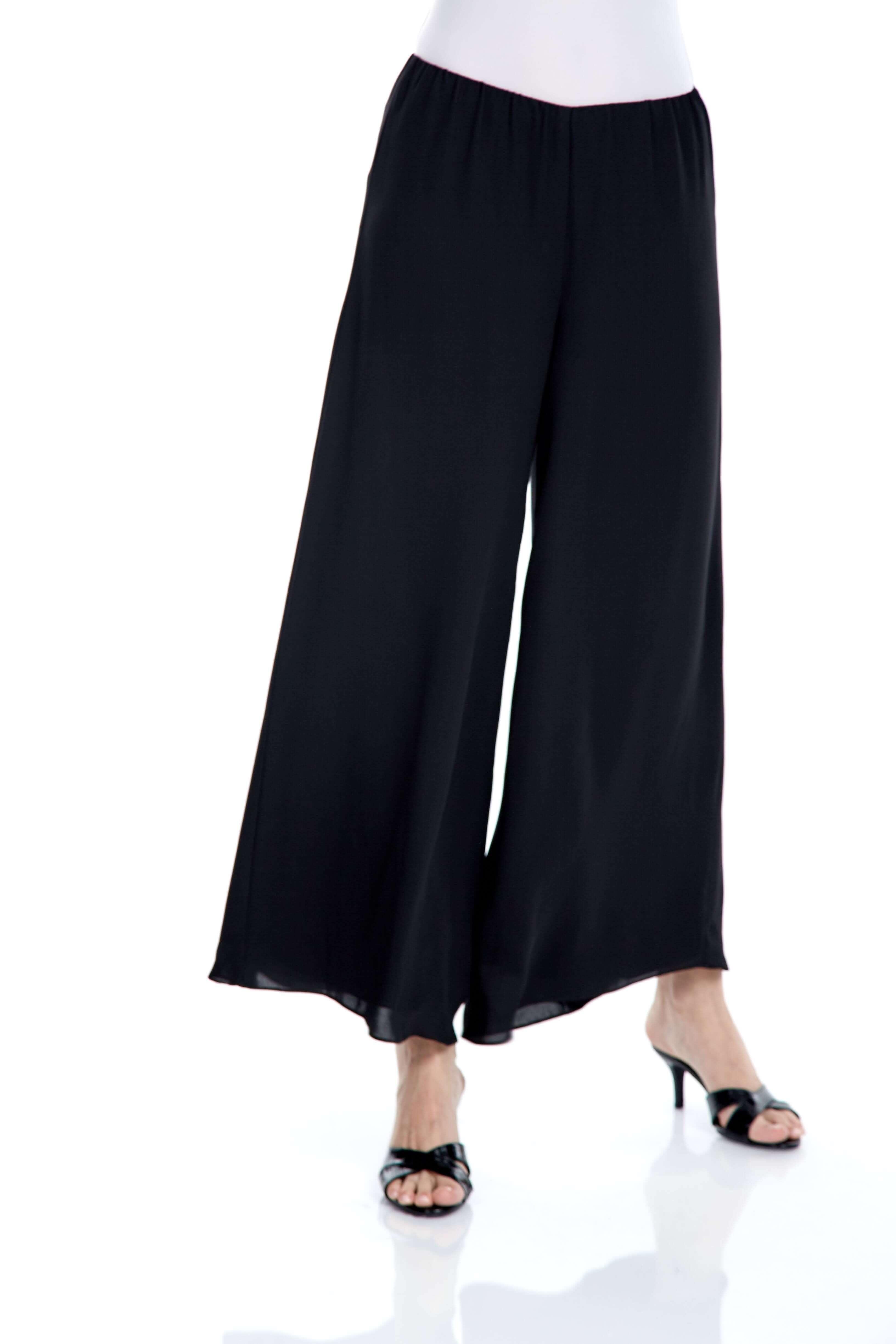 Black Double Layer Palazo Pants (4)