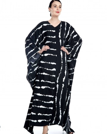 Kyra Black Stripe Caftan
