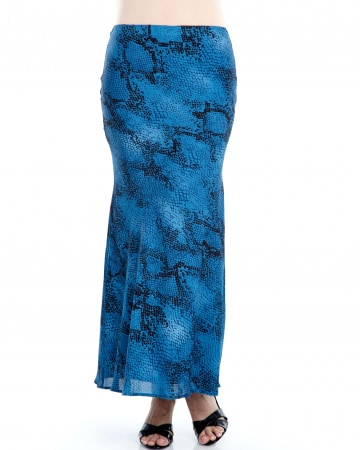 Blue Python Mermaid Skirt