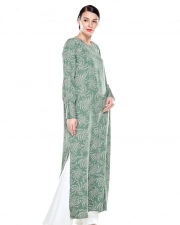 Wanis Green Printed Dress