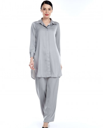 Grey Shirt Blouse
