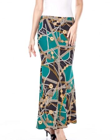 Adele Green Chain Skirt