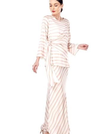 Brinda Peach Stripe Blouse