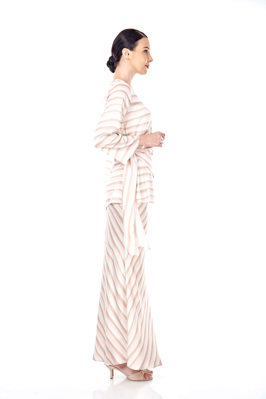 Brinda Peach Stripe Blouse 4