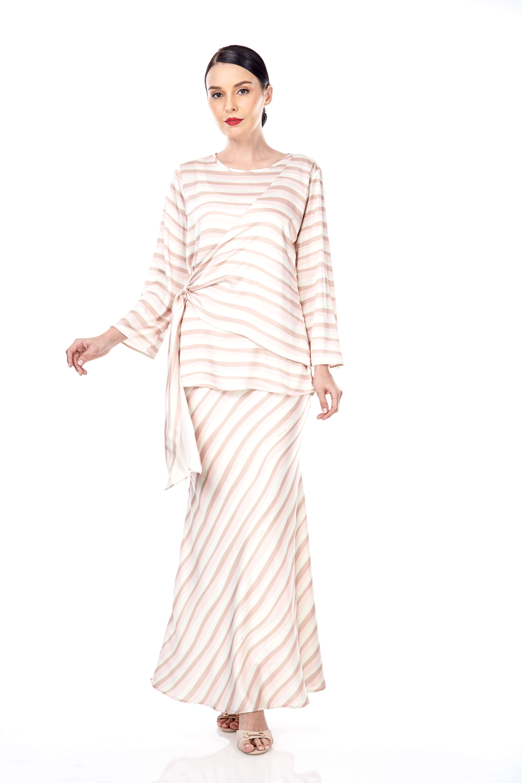 Brinda Peach Stripe Blouse 5