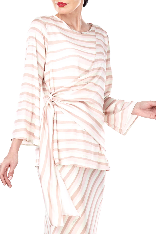 Brinda Peach Stripe Blouse 6