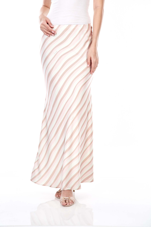 Brinda Peach Stripe Skirt
