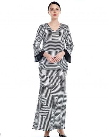 Clara Black Stripe Blouse