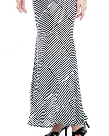 Clara Black Stripe Skirt