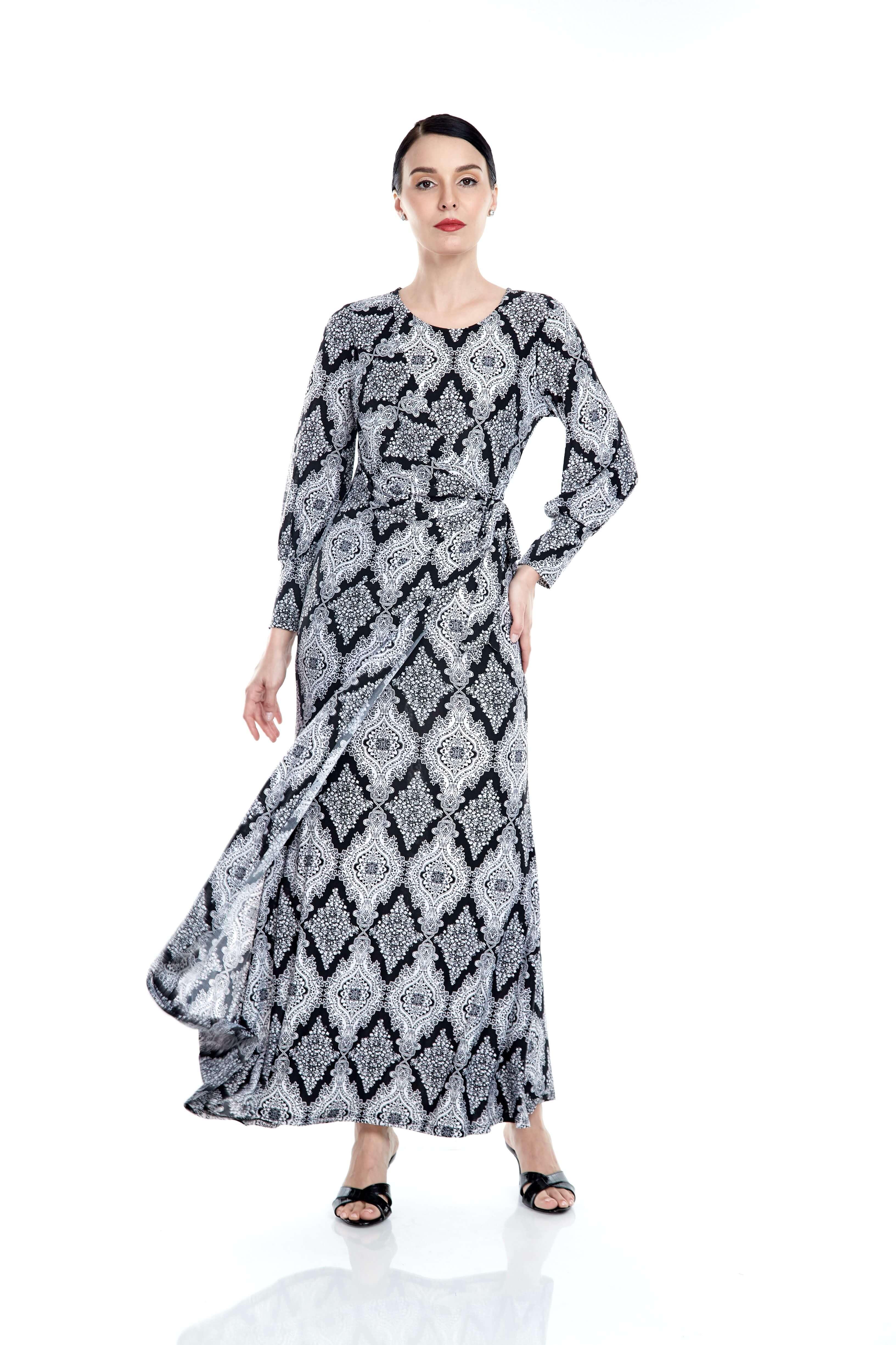 Elisa Black Printed Dress 3