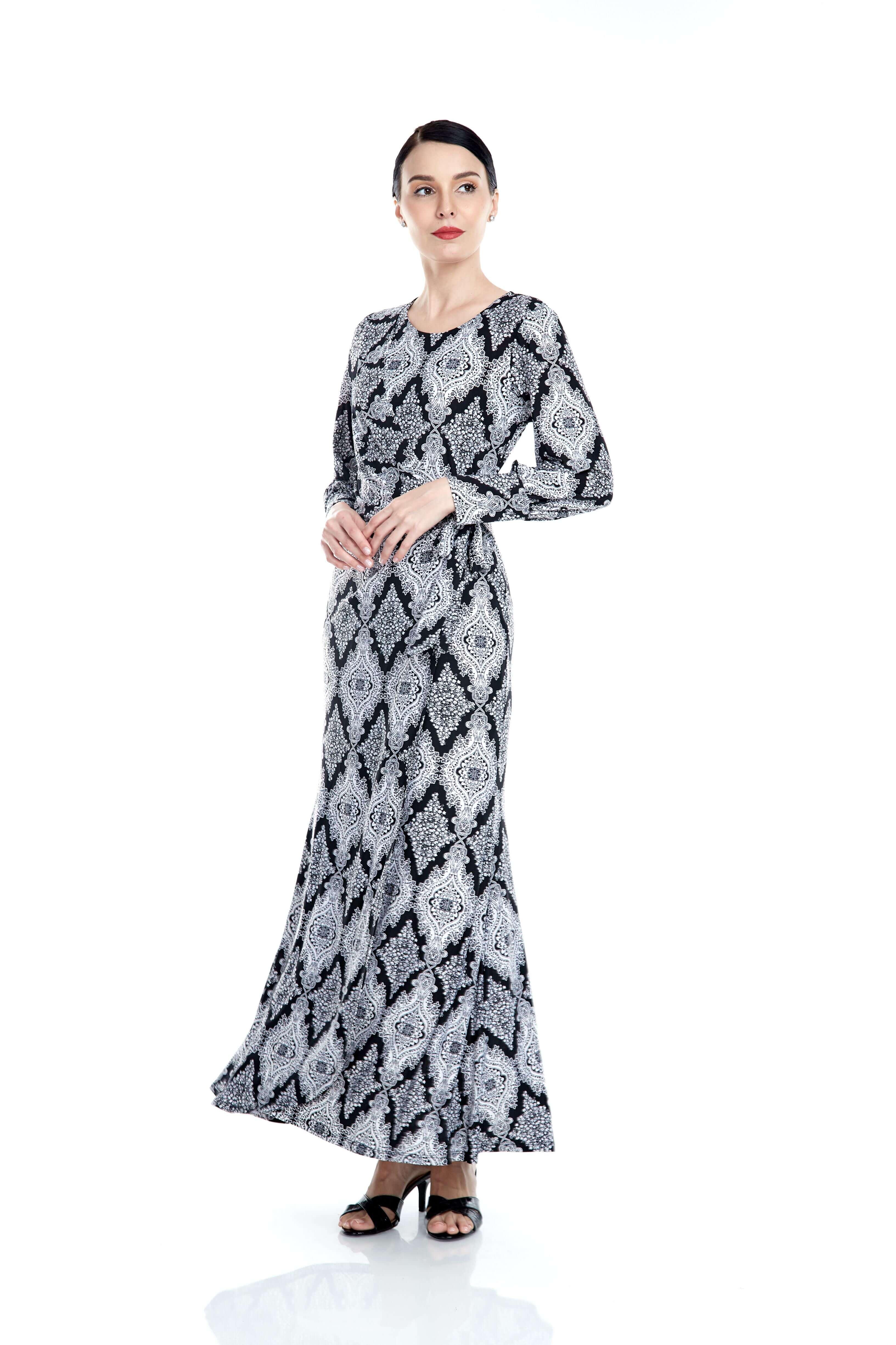 Elisa Black Printed Dress 5