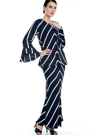 Fatma Navy Stripe Blouse