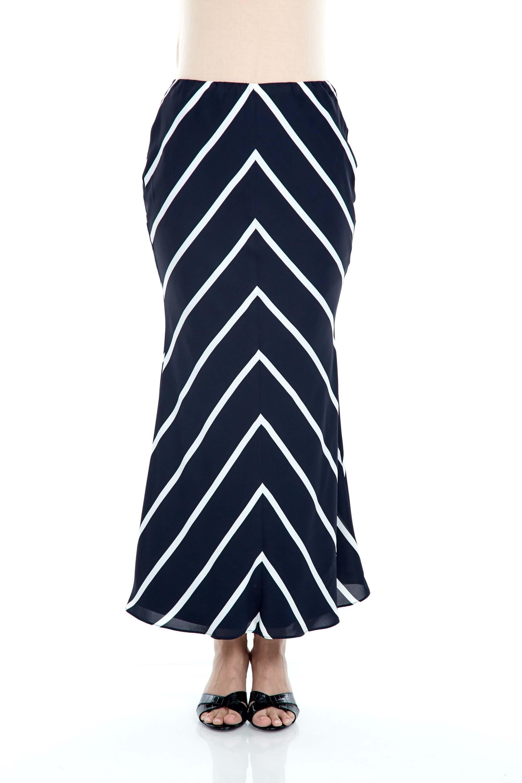 Fatma Navy Stripe Skirt 2
