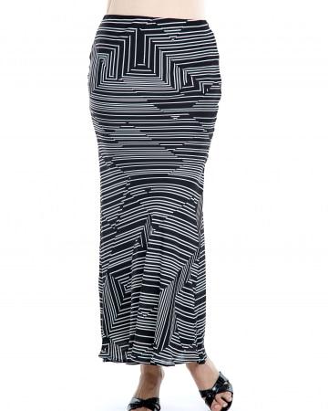 Gloria Black Stripe Skirt