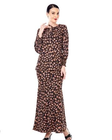 Imelda Black Printed Blouse
