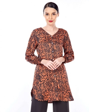 Jemila Orange Printed Tunic