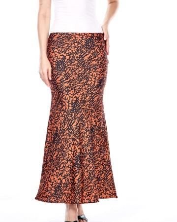 Keisha Orange Printed Skirt