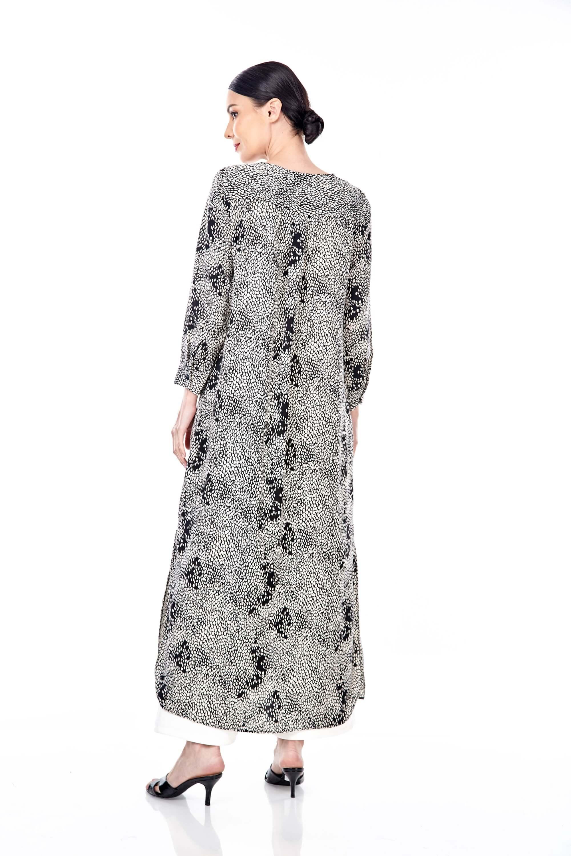 Leena Black Printed Dress 1