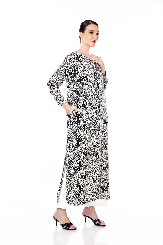 Leena Black Printed Dress 2