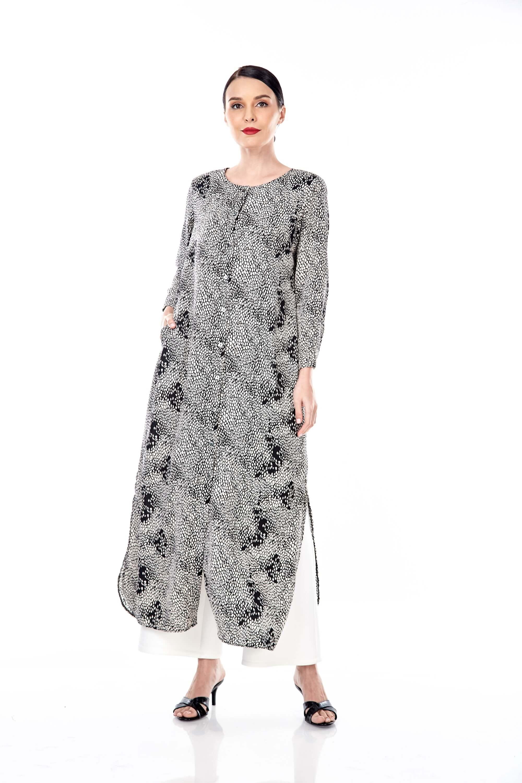 Leena Black Printed Dress 3
