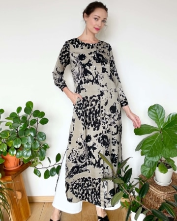 Leena Brown Printed Dress
