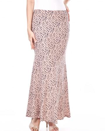 Mona Peach Printed Skirt