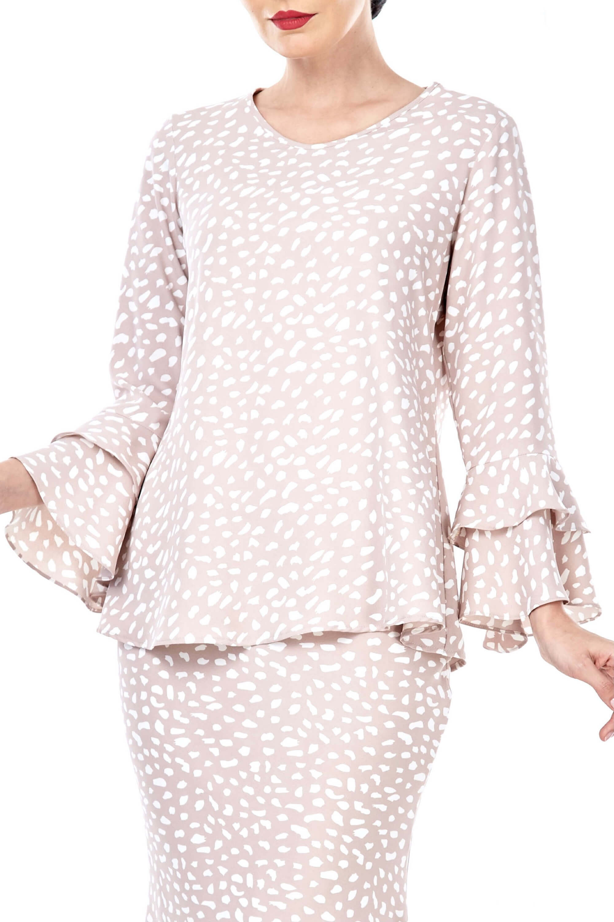 Mona Sand Spotted Blouse 5