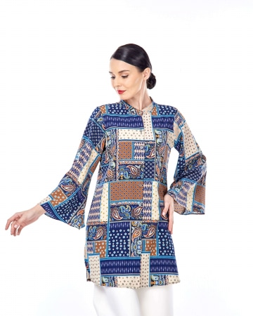 Safina Patchwork Printed Tunic