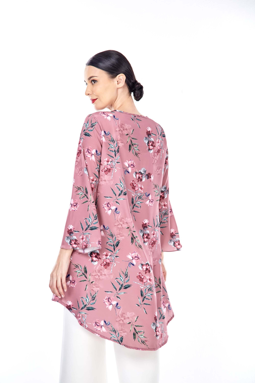 Salwa Dusty Pink Flower Tunic 2