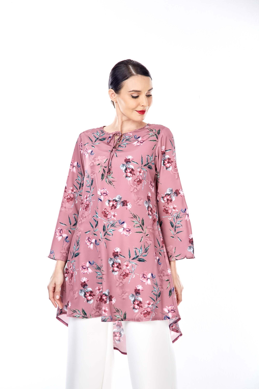 Salwa Dusty Pink Flower Tunic 4