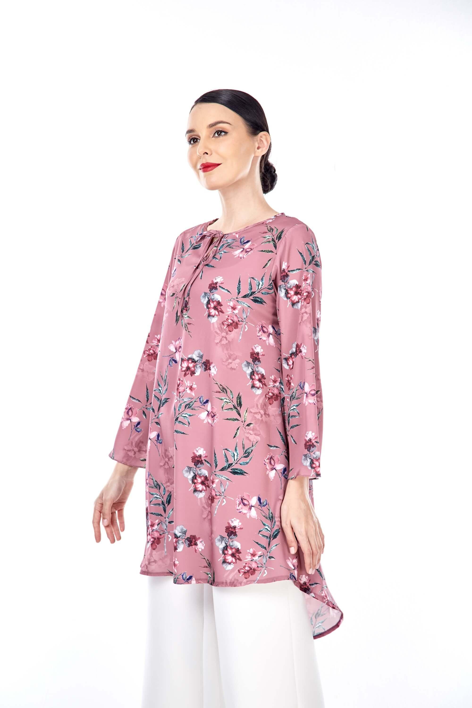 Salwa Dusty Pink Flower Tunic